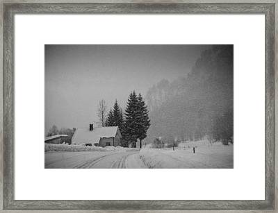 Winter In The Countryside Framed Print by Mirra Photography