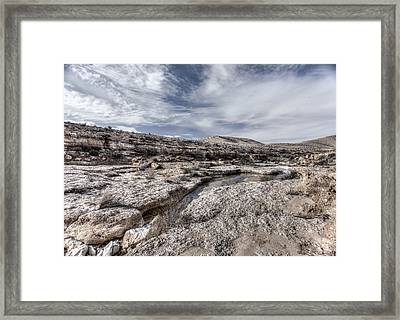 Framed Print featuring the photograph Winter In The Desert by Uri Baruch
