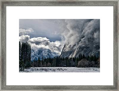 Winter In The Meadow Framed Print by Cat Connor