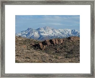 Winter In The  Mohave Desert Framed Print