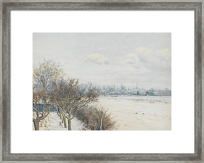 Winter In The Ouse Valley Framed Print by William Fraser Garden