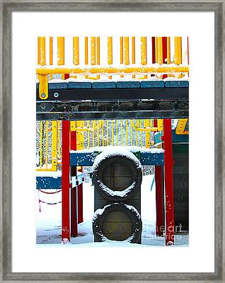 Winter In The Playground Framed Print by Nina Silver