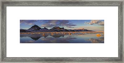 Winter In The Salt Flats Framed Print by Chad Dutson