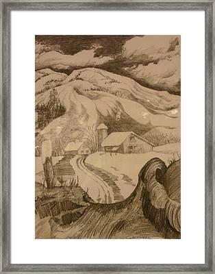 Winter In Truckee Framed Print by Georgia Annwell