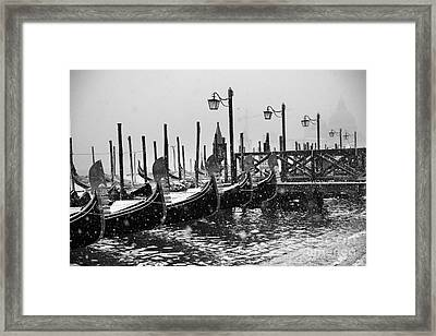 Winter In Venice Framed Print