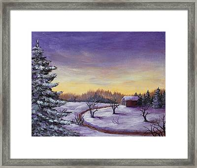Winter In Vermont Framed Print by Anastasiya Malakhova