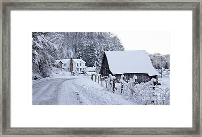Winter In Virginia Framed Print by Benanne Stiens