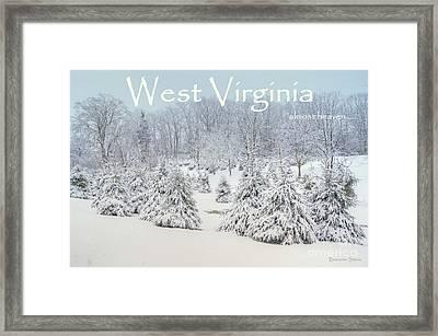 Winter In West Virginia Framed Print by Benanne Stiens
