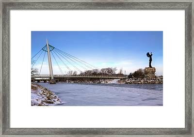 Winter In Wichita Framed Print by JC Findley