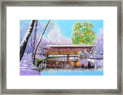 Winter Into Spring Framed Print by David Linton