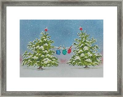 Winter Is Fun Framed Print by Mary Ellen Mueller Legault