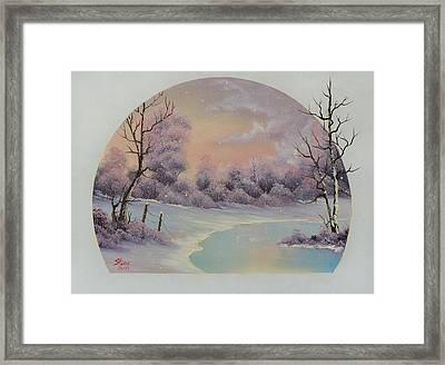 December Frost Framed Print by C Steele