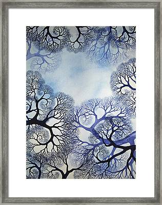 Winter Lace Framed Print by Helen Klebesadel