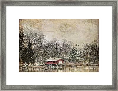 Winter Lake Framed Print by Darren Fisher