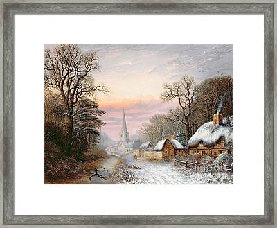 Winter Landscape Framed Print by Charles Leaver