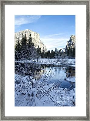 Winter Landscape In Yosemite California Framed Print