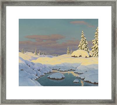 Winter Landscape Framed Print by Ivan Fedorovich Choultse