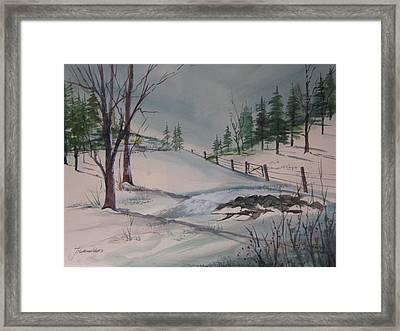 Winter Landscape Framed Print