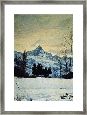 Winter Landscape Framed Print by Matteo Olivero