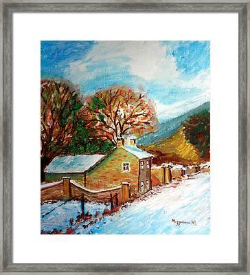 Winter Landscape Framed Print by Mauro Beniamino Muggianu