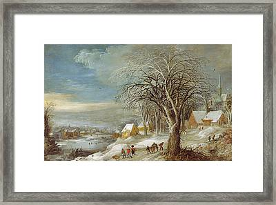 Winter Landscape Framed Print by Joos or Josse de The Younger Momper