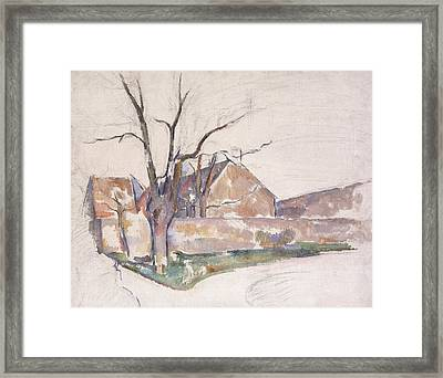 Winter Landscape Framed Print by Paul Cezanne