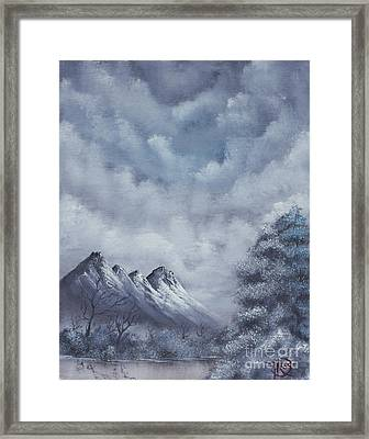 Winter Landscape Framed Print by Troy Wilfong