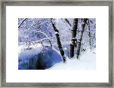 Winter Landscape Yosemite Valley Framed Print
