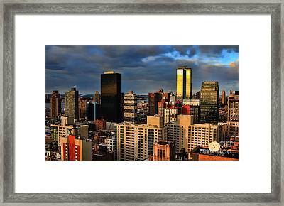 Winter Light In New York Framed Print