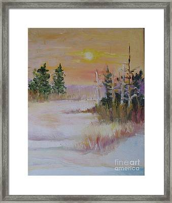 Framed Print featuring the painting Winter Light by Julie Todd-Cundiff
