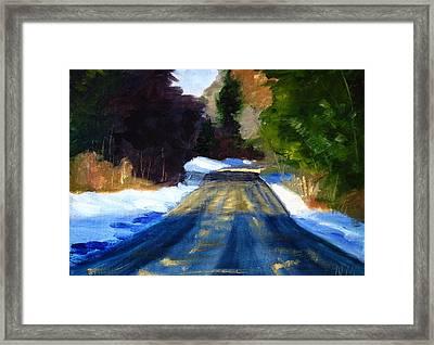 Winter Light Framed Print by Nancy Merkle