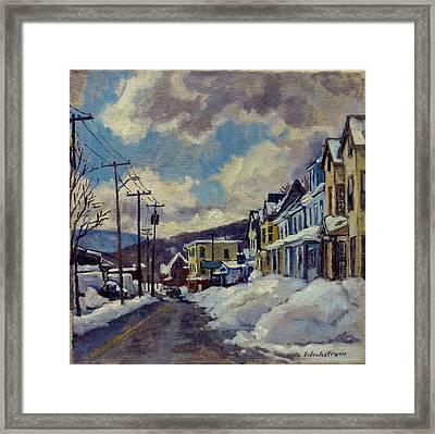 Winter Light North Adams Framed Print