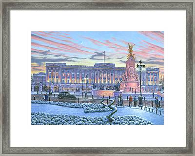 Winter Lights Buckingham Palace Framed Print by Richard Harpum
