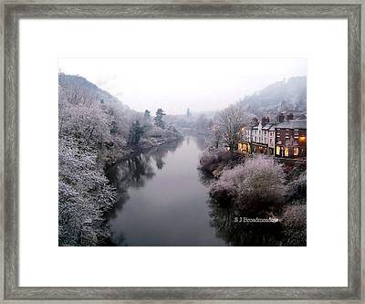 Winter Lights In Ironbridge Framed Print