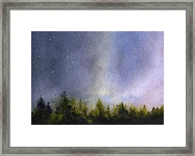 Winter Lights Framed Print