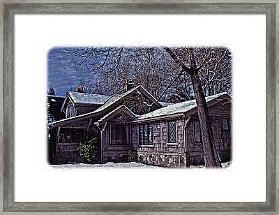 Winter Lodge Framed Print