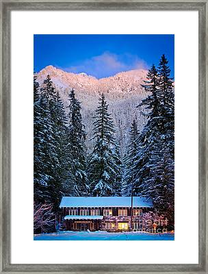 Winter Lodging Framed Print by Inge Johnsson