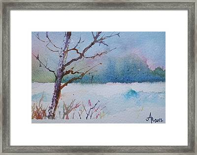 Winter Loneliness Framed Print