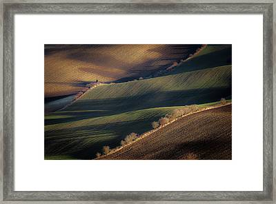 Winter Long Shadows Framed Print