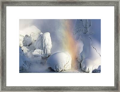 Winter Magic In Niagara Framed Print by Magda  Bognar