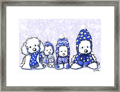 Winter Maltese Boys Framed Print by Kim Niles