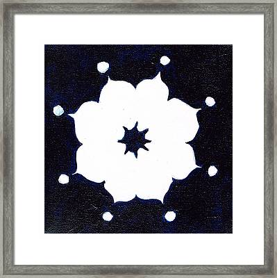 Winter Mandala Framed Print