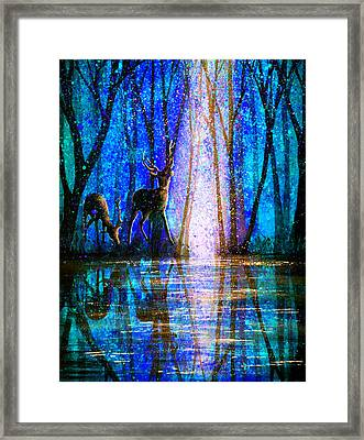 Winter Melody Framed Print by Ann Marie Bone