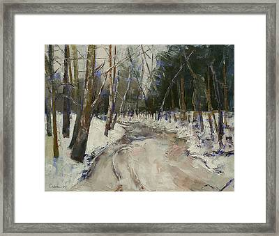 Winter Creek Framed Print