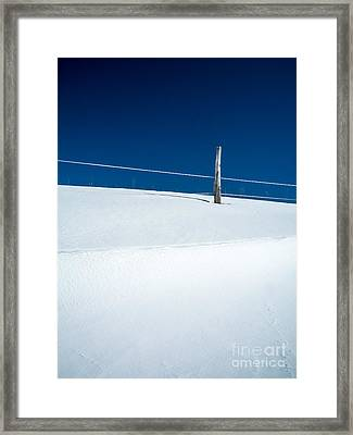 Winter Minimalism Framed Print