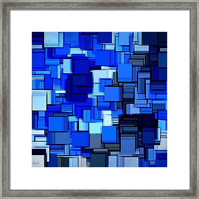Winter Modern Abstract Xix Framed Print by Lourry Legarde