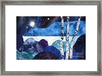 Winter Moon 2 Framed Print by Susan Minier