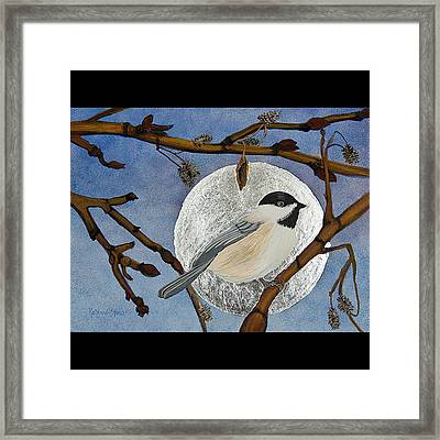 Winter Moon Framed Print by Amy Reisland-Speer