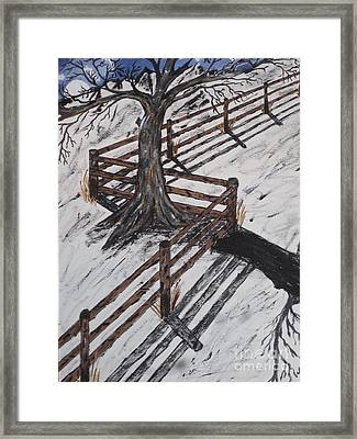 Winter Moon Shadow Framed Print