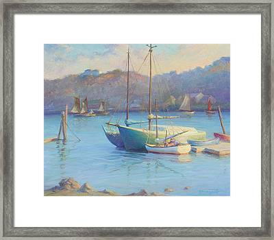 Winter Mooring Gloucester Framed Print by Ernest Principato